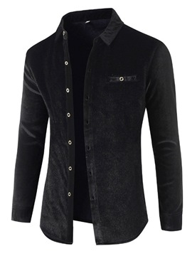 Ericdress European Patchwork Lapel Fall Single-Breasted Shirt