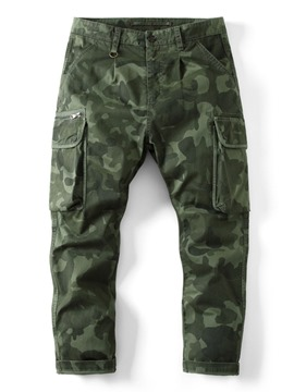 Ericdress Print Camouflage Casual Zipper Casual Pants