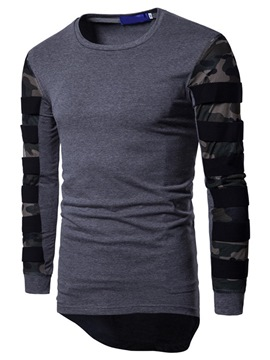 Ericdress Camouflage Casual Round Neck Slim Long Sleeve T-shirt
