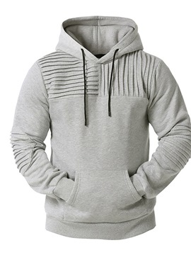 Ericdress Pleated Pullover Plain Pullover Hooded Hoodies