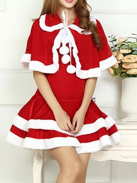 Ericdress Christmas Color Block Western Holiday Fall Costumes