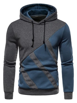 Ericdress Pullover Patchwork Color Block Pullover Casual Hoodies