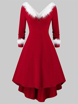 Ericdress Christmas Feather Plain Western Holiday Fall Costumes