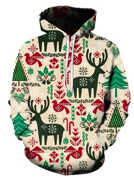 Ericdress Pullover Print Casual Pullover Hoodies