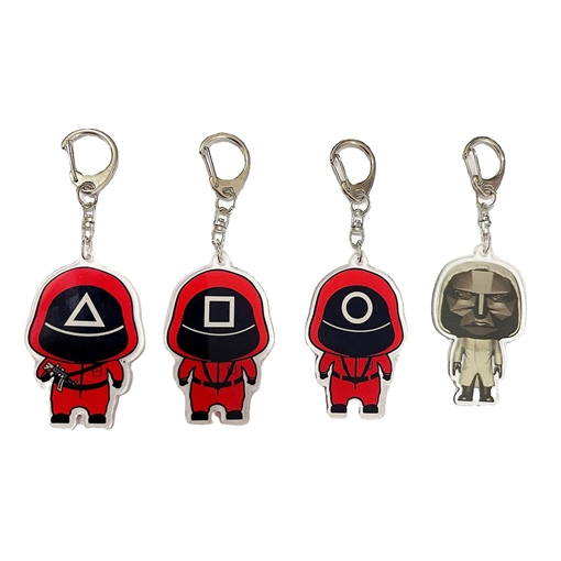 Ericdress Squid Game Acrylic Key Chains