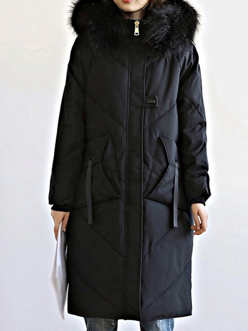 Ericdress Thick Single-Breasted Slim Mid-Length Cotton Padded Jacket