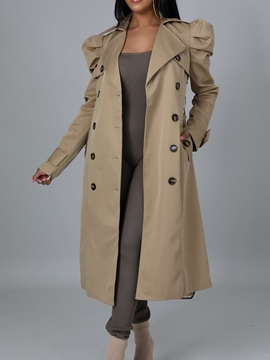 Ericdress Long Pocket Double-Breasted Fashion Winter Trench Coat