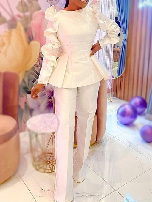 Ericdress Fashion Shirt Plain Straight Pullover Two Piece Sets