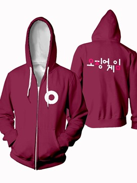 Ericdress Pullover Number Print Sports Loose Hoodies