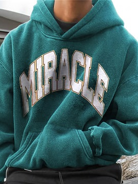 Ericdress Letter Pullover Pocket Pullover Loose Hoodies