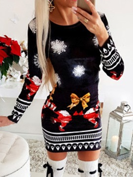 Ericdress Christmas Patchwork Color Block Western Holiday Fall Costumes