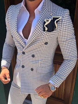 Ericdress Slim Double-Breasted Notched Lapel Blazer