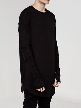 Ericdress Casual Plain Round Neck Loose Pullover T-shirt