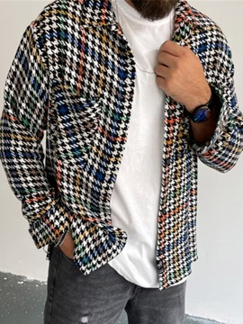 Ericdress Houndstooth Thick Print Fall England Jacket