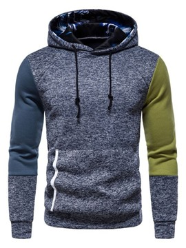 Ericdress Patchwork Color Block Pullover Pullover Spring Hoodies