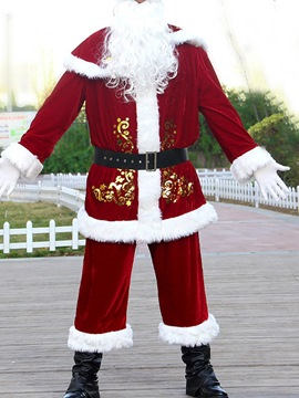 Ericdress Christmas Holiday Color Block European Long Sleeve Costumes