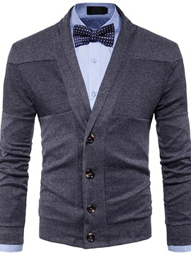 Ericdress Casual Standard Lapel Single-Breasted Slim Sweater