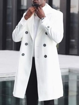 Ericdress Mid-Length Lapel Winter Double-Breasted Coat