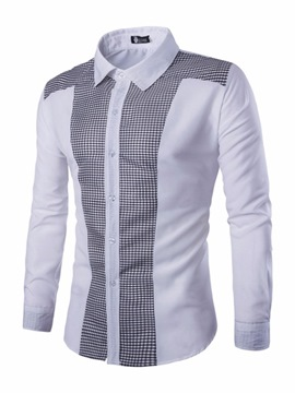 Ericdress Plaid Casual Patchwork Single-Breasted Spring Shirt