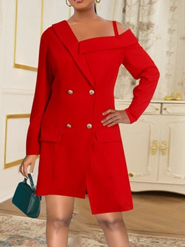 Ericdress Long Sleeve Double-Breasted Plain Office Lady Summer Blazer