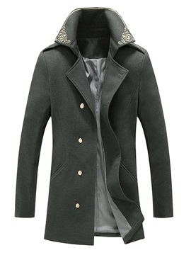 Ericdress Embroidery Lapel Floral Slim Winter Coat