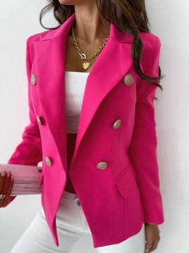 Ericdress Double-Breasted Plain Long Sleeve Fall Office Lady Blazer