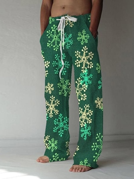 Ericdress Straight Print Floral Fall Lace-Up Casual Pants