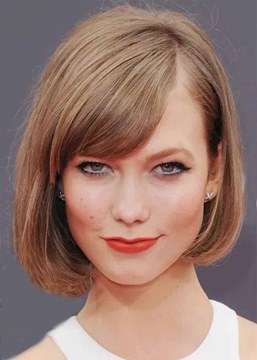 Ericdress Women's Side Swoop Bob Style Natural Straight Synthetic Hair Capless Wigs 12Inch