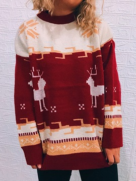 Ericdress Christmas Long Sleeve Patchwork Fashion Holiday Fall Costumes