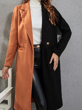 Ericdress Pocket Straight Double-Breasted Spring Long Overcoat