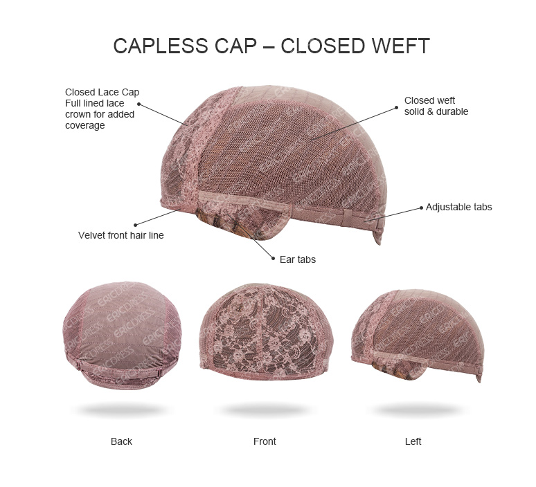 Capless Cap Closed Weft